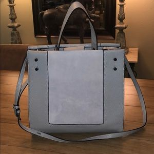BMWT Botkier New York grey leather satchel